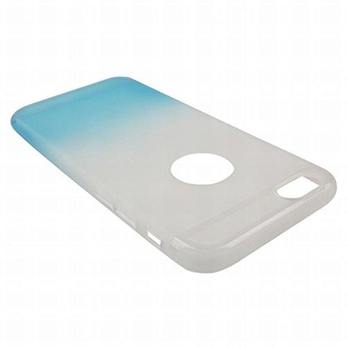 Pour iphone 6 6s (4.7inch) Coque Etui, LEMORRY Ultra TPU Silicone Caoutchouc Transparent [Absorption des chocs] Style Slim Soft Housse Case Crystal Bumper Protecteur Back Rear Gradient Blue