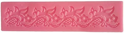 1 pcs Rose lace drop Border Icing fondant Silicone Mold Moul