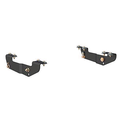 CURT 16418 Black 5th Wheel Hitch Installation Brackets for Select Chevrolet Silverado, GMC Sierra 1500, 2500LD, 2500HD, 3500 ()