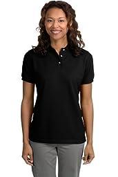 Port Authority - Ladies Pique Knit Sport Shirt. L420 (Red / 1X) [Apparel]
