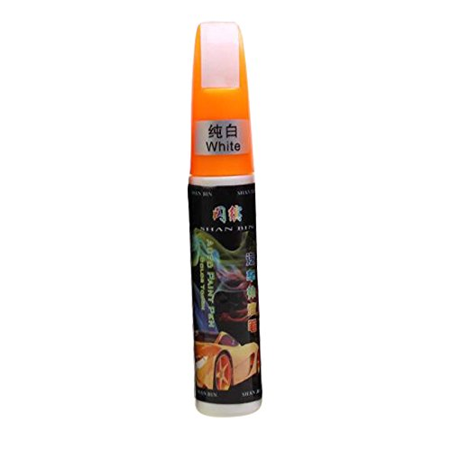 ZZH Pluma Quita y pon de Coche, 12ML 6 Colores Reparació n de Coches Pen Fix It Reparació n de arañ azos Removedor Touch Pen_Pure Blanco