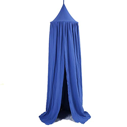 BATTILO HOME Kids Bed Canopy Hanging Mosquito Net for Baby Crib Nook Castle Game Tent Nursery Play Room Decor (Blue)