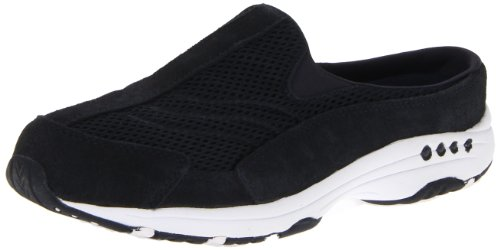 Easy Spirit Women's Traveltime Mule, Navy White, 10 W US