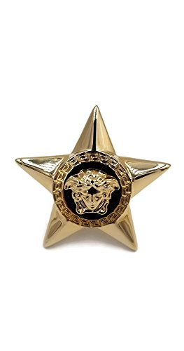 Authentic Versace Medusa Star Logo Statement Ring With Box - For Women Versace Rings