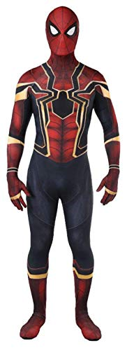Reach Unisex Lycra Spandex Zentai Halloween Cosplay Costumes Adult/Kids 3D Style, Mens-Medium, Red