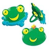 12 ct - Green Frog Cupcake Rings