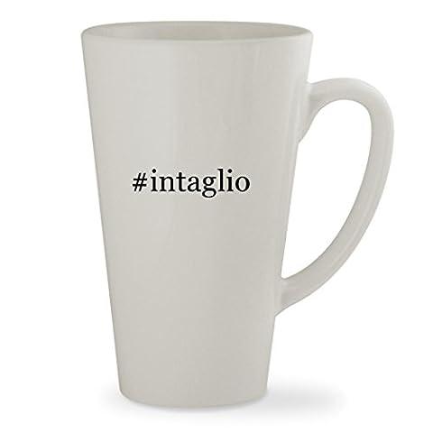 #intaglio - 17oz Hashtag White Sturdy Ceramic Latte Cup Mug (Wedgewood Pendant)