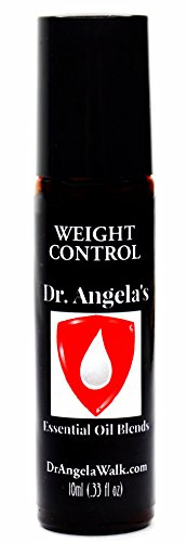 Dr. Angelas Weight Control Essential Oil Blend | Therapeutic Grade | Weight Loss Support Roll-On Bottle 10ml (.33 fl oz)