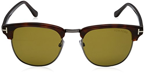 Tom Ford Sonnenbrille Henry (FT0248) AVANA SCURA WITH GREEN