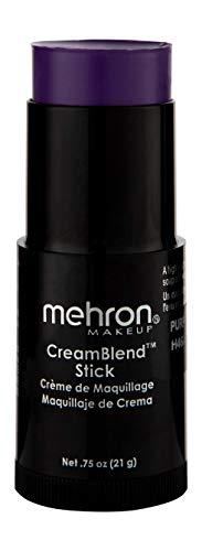 Mehron Makeup CreamBlend Stick (.75 oz) (PURPLE) -