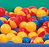 Sammons Preston Ball Pit Balls, Set of 500, 2'' Diameter Balls, Replacement Soft Plastic Pool Balls in Multiple Colors for Fun Children's Ball Pits, Crush Proof Plastic Ball, Various Colors