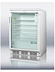 Summit SCR600LPLUS Refrigerator, Glass/White