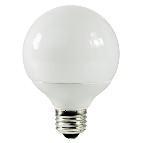 TCP 2G2514-27 - 14 Watt CFL Light Bulb - Compact Fluorescent - G25 - 60 W Equal - 2700K Warm White - 82 CRI - 57 Lumens per Watt - 15 Month Warranty (Tcp Globe 14w G25)