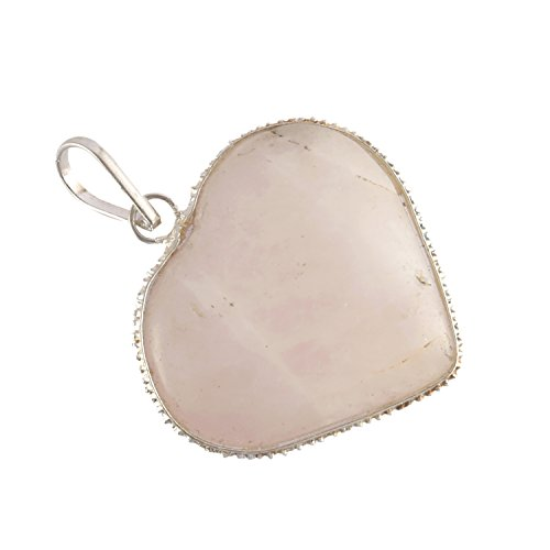 Aatm Reiki Energized Rose Quartz Heart Pendant''Stone Of Love & Relationship'' by Aatm Collection