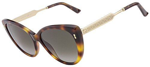 Gucci Women's Sunglasses GG3804 CRX Dark Havana Gold/Brown Gradient Lens Cat Eye - Miu Miu Gucci