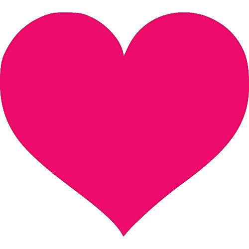 (NBFU DECALS Logo Heart (Pink) (Set of 2) Premium Waterproof Vinyl Decal Stickers for Laptop Phone Accessory Helmet CAR Window Bumper Mug Tuber Cup Door Wall Decoration )