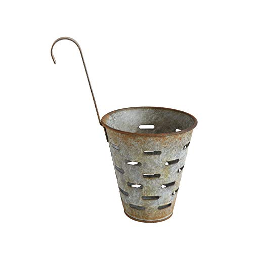 Creative Co-op Metal Olive Bucket with Hook
