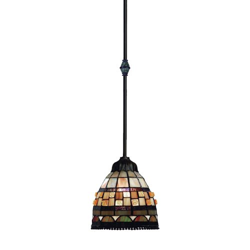 Jewelstone 1 Light - Jewelstone 1-Light Pendant in Classic Bronze