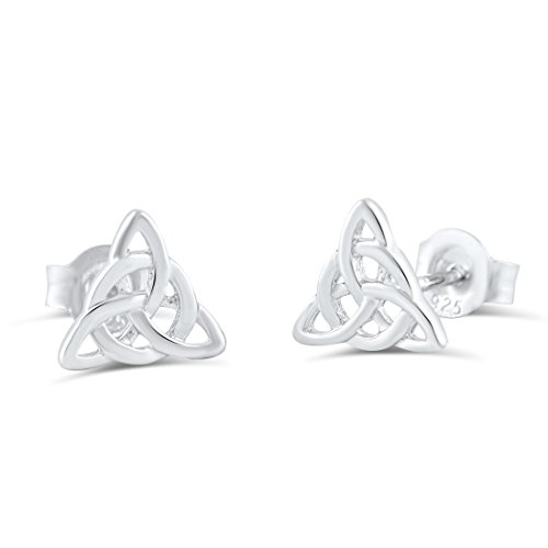 Celtic Earring - Sterling Silver Celtic Triquetra Stud Earrings - 7mm