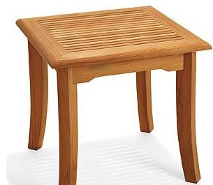 New Grade A Teak Square Side Table / End Stool #WFAXSTGV For Sale