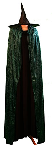 CL COSTUMES World Book Day-Halloween-Mcgonagall Hogwarts Witch Dress, Cloak & HAT Costume - All Ages (Teen)