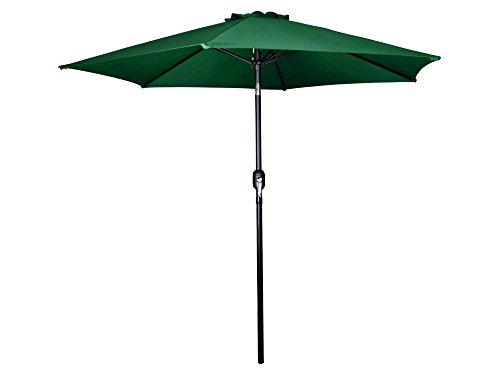 TMS Beach Umbrella Aluminum Outdoor 8ft Crank Tilt Sunshade Cover Patio Market Umbrella,Green