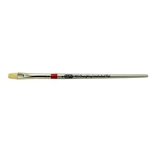 ZEM Brush Chungking Pro White Bristle Interlocked Flat Brush Single - Chungking Bristle Brush White