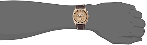 Fossil Men's FS5075 Machine Chronograph Leather Watch – Dark Brown by Fossil (Image #3)