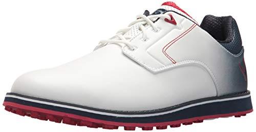 Callaway Men's LaJolla SL Golf Shoe, White/Navy, 11.5 M US