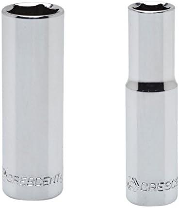 4mm Deep Socket 6 Point Crescent CDDS11 1//4 Drive