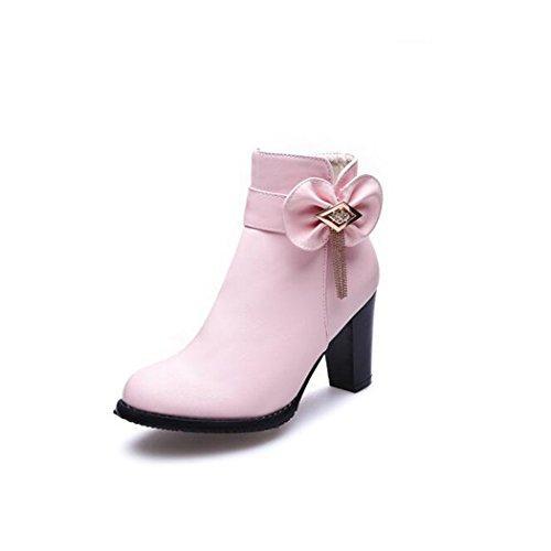 de impermeable botas QXEl botas zapatos invierno invierno invierno de redonda cabeza d4f0e2
