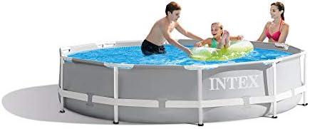 Intex Frame Pool Set Prism Rondo Piscina montable, Azul/Blanco ...