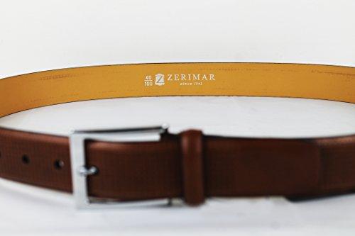 Zerimar Ora In Vendita Del 20%! Cintura Con Zip Interna Per Uomo Realizzata In Pelle Color Tan Taglia 120