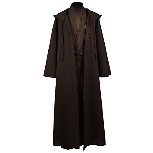 Jedi Knight Anakin Luke Skywalker Costume Cosplay Cloak Cosplay Costume Halloween Robe Outfit Suit Coat (L, Style 1) -