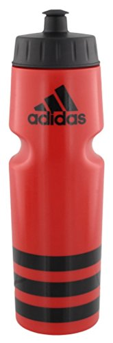 (adidas Squeeze 750ML Plastic Water Bottle (28oz), Scarlet/Black)
