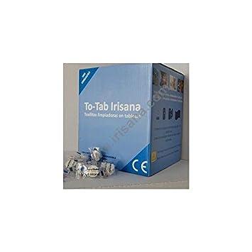 Toallitas limpiadoras en tableta, comprimidas.To-Tab Irisana caja22X24CM IR56.500