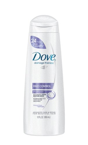 Dove Damage Therapy Frizz Control Shampoo, 12 Ounce (Pack of 3)