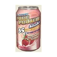 WWSN: Pure Protein Shake Strawberry 12 ct 11 oz by Worldwide Co.