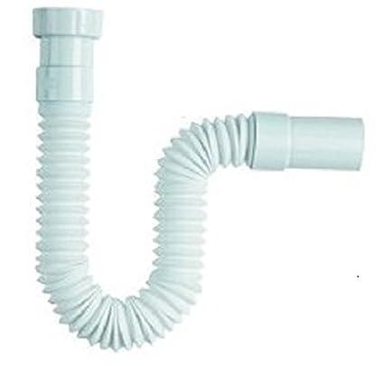 Tubería flexible para desagüe, con trampa para residuos, 1 1/2 - 40
