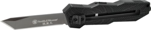 Smith and Wesson SandW Out The Front, Black Aluminum, Black Tanto Bl, Plain, Outdoor Stuffs