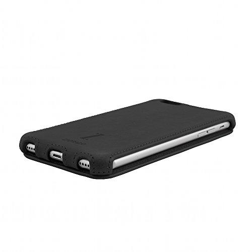 Zaprado Apple iPhone 7 Plus exklusive Ledertasche Hülle aus brasilianischem Echtleder Tasche, COLOR:Schwarz