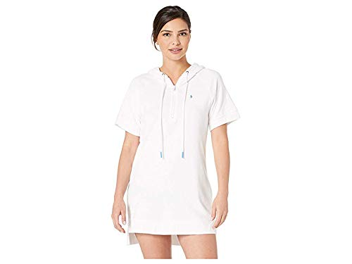 - Polo Ralph Lauren Women's Terry Hoodie Dress White Small
