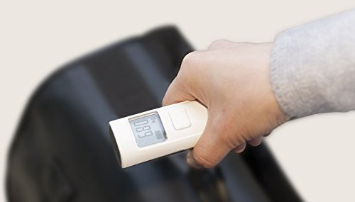 White NO BATTERIES NEEDED Digital 110Ib Travel Luggage Scale for Suitcase Weighing One Size Best Gift for Traveler