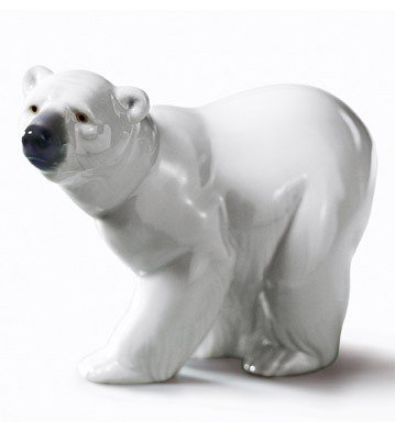 ATTENTIVE POLAR BEAR Lladro Porcelain