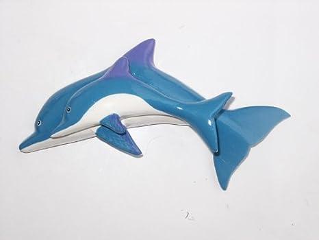 Ceramiche piastrelle a mosaico di un delfino foto immagine stock