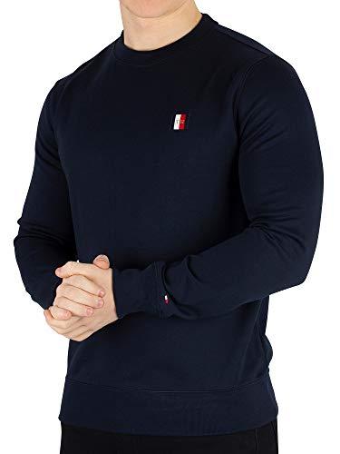 (Tommy Hilfiger Icon Mini Badge Sweater Medium Sky Captain)