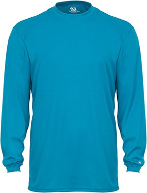 Badger Adult B-Core Long-Sleeve Performance Tee S Electric Blue