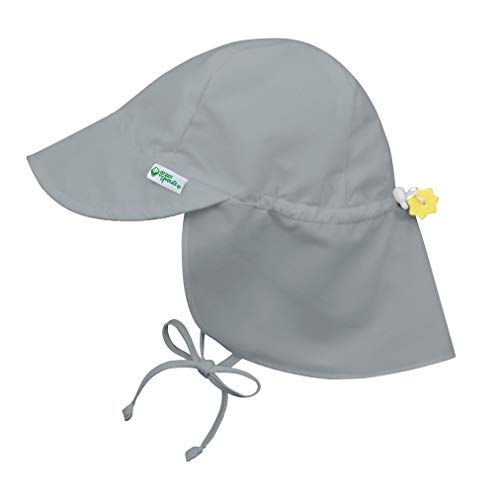 i play. by green sprouts Baby Upf 50+ Sun Protection Flap Hat, Gray, 9-18 months
