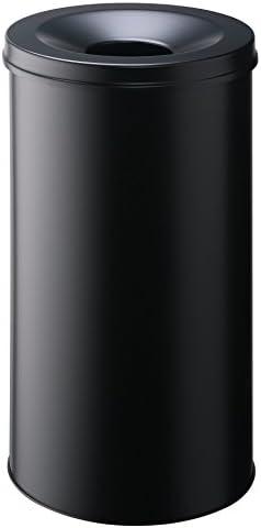 Perforation 30 mm schwarz Durable 332001 Papierkorb Metall eckig 18,5 Liter