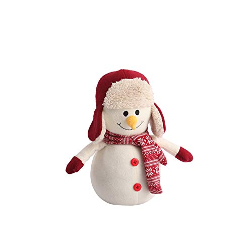 Decorative Door Stopper by Morgan Home – Available in Many Animals and Styles – Measures Approx. 11 x 5.5 x 5.5 Inches (White Snowman)